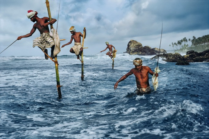 steve mccurry stilt fishermen